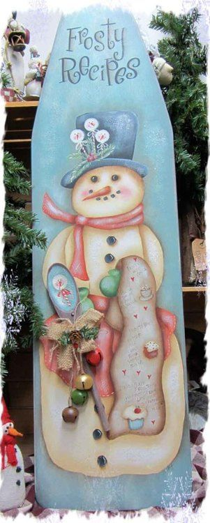 This is a snowman sign, Frosty Recipes E-Packet - Deb Antonick.