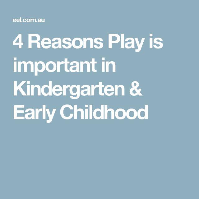 4 Reasons Play is importantin Kindergarten & Early Childhood