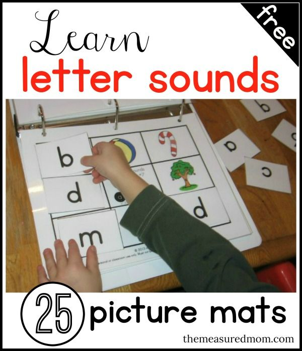 Does your child need some practice with letters and sounds? Print these 25 FREE picture mats with matching letter cards. Perfect for hands-on alphabet learning!