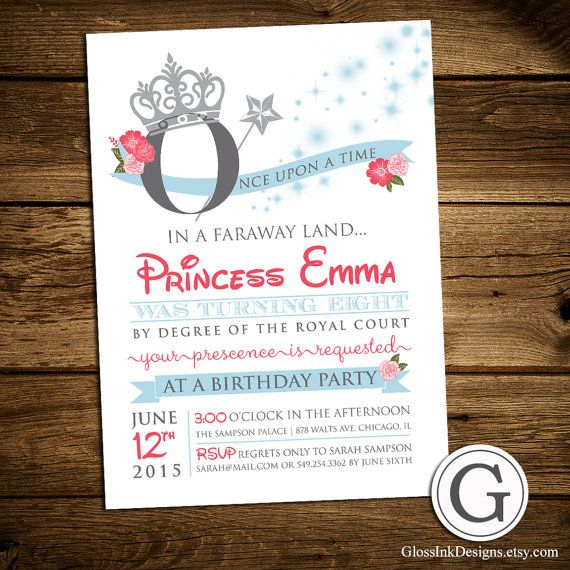 157 best perfect birthday bash images on pinterest birthday bash birthday party invitation royal princess girl by glossinkdesigns stopboris Image collections