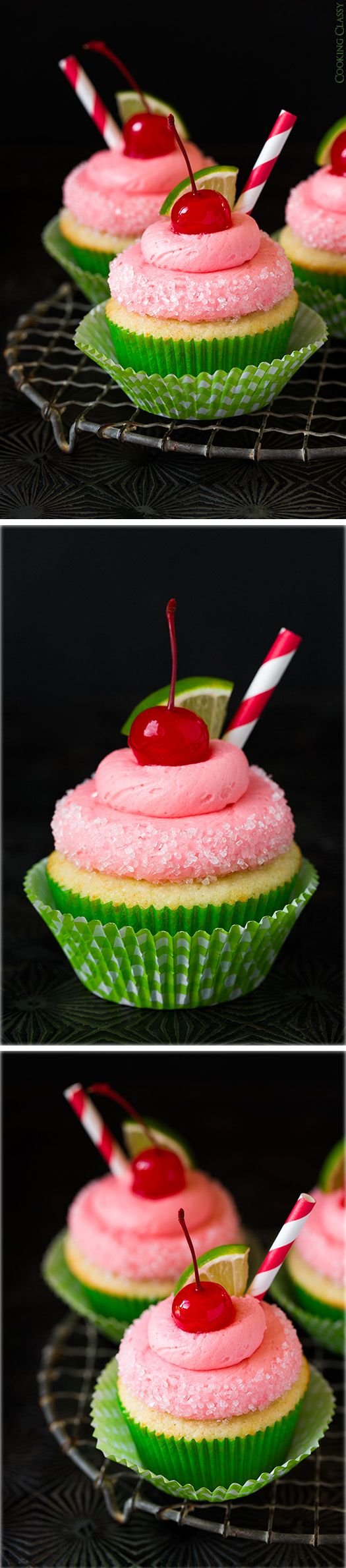 Cherry Limemade Cupcakes - these cupcakes are delicious and so fun for summer!!
