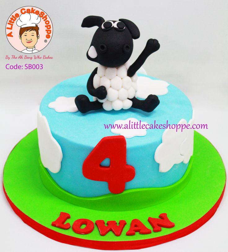 Timmy Time Cake by A Little CakeShoppe Singapore.  Figurine handmade in sugar.