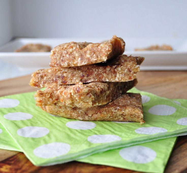 Coconut Cream Larabars 15 Medjool Dates 1/2 cup almonds 1/2 cup cashews 3/4 cup shredded coconut 2 T coconut oil 2 T water