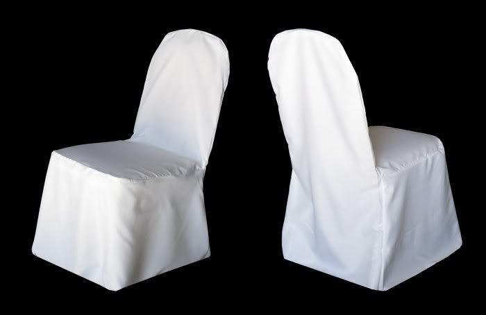 White Round Banquet Chair Cover Rentals $1.50 per chair