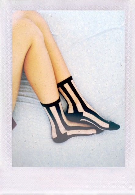 Ashley in the Lined Up Socks || Get the socks: http://nastygal.com/accessories-socks-legwear/lined-up-socks?utm_source=pinterest&utm_medium=smm&utm_term=ngdib&utm_content=clothing_optional&utm_campaign=pinterest_nastygal