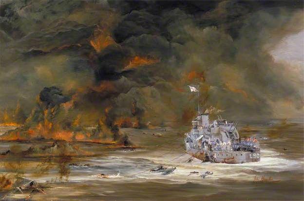 HMS Ledbury (L90) rescued 44 Men from the Merchantman SS 'Waimarama', Pedestal Convoy, 1942.
