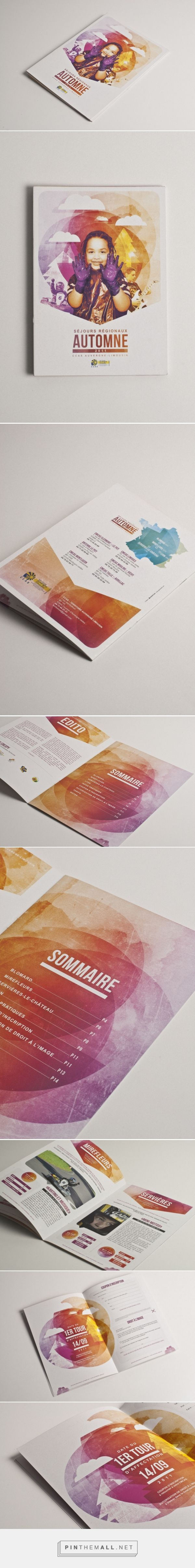 Coloring, design and illustration ideas for a #booklet or #brochure