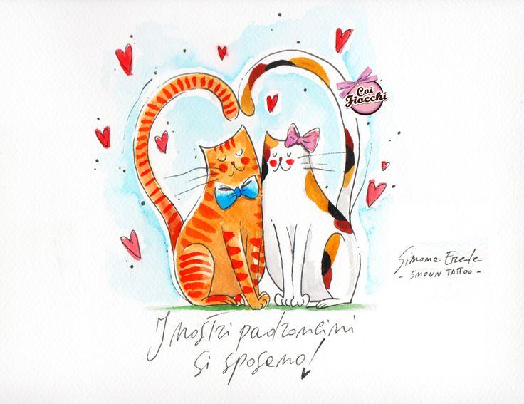 Matrimonio Tema Gatti : Oltre fantastiche idee su illustrazione matrimonio