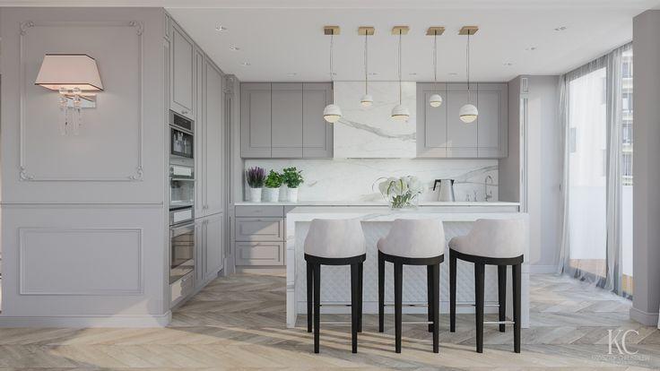 Luxury Kitchen designed by Krzysztof Chrustalew , Fendi , Lalu Lighting