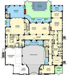 Italianate Beauty - 82000KA floor plan - Main Level