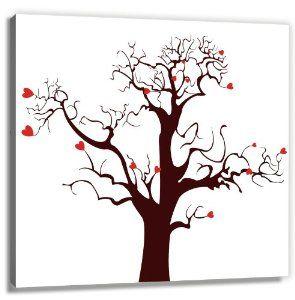 Fingerabdrücke der Hochzeitsgäste auf Leinwand - das völlig neue Gästebuch auf 60x60 cm Leinwand als Hochzeitsbaum (fingerprint tree) - Hochzeitsspiel und -geschenk bei amazon