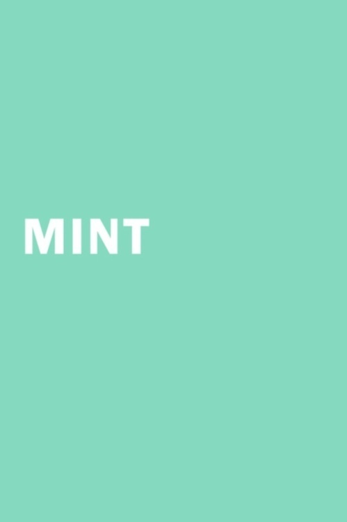 Mint green. Falling in love with this color