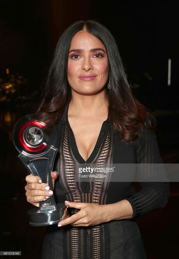 Actress/producer Salma Hayek, recipient of the CinemaCon Vanguard Award, at the CinemaCon Big Screen Achievement Awards brought to you by the Coca-Cola Company at The Colosseum at Caesars Palace during CinemaCon, the official convention of the National Association of Theatre Owners, on March 30, 2017 in Las Vegas, Nevada.