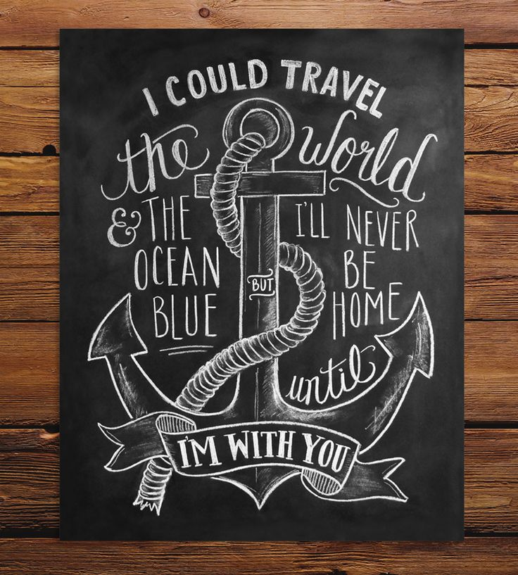 Nautical Chalkboard Art Print   This print can make anyone's heart grow three sizes. This chal...   Posters