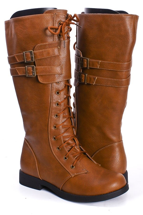 Fun boots, love the color! $26.25 >> So inexpensive to! Wonder how comfy they are...Cowboy Boots, Lace Up Boots, Leather Boots, Shoes Boots, Leather Lace, Shoe Boots, Boots Socks, Faux Leather, Combat Boots