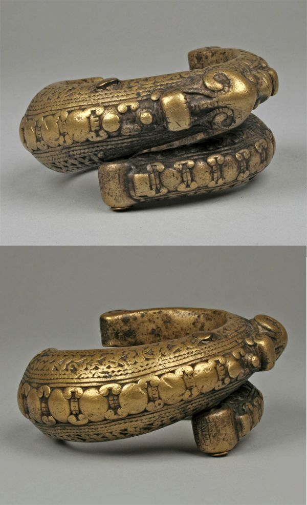 Indonesia ~ Sumatra | Bracelet from the Toba Batak people | Brass | 19th to early 20th century