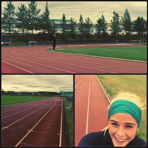 Loved starting my day here on the track!  Doing a workout from my amazing running coach @hinshaw363  3x(4x400m run- 30 sec rest between reps, 3 minutes rest between sets)  @niketraining #niketraining #justdoit #nike  #sklz #sportvorur #harfaktory #dismakeup #teampowerfactory #cfsudurnes  #running #thetrainingplan #crossfit #whereisthesun