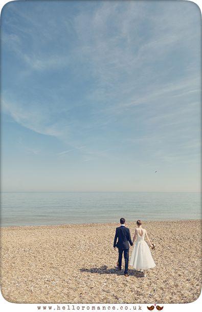 Large skies at Dunwich wedding - www.helloromance.co.uk