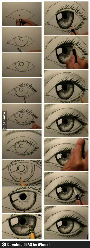 How to draw a realistic eye. I have always struggled with this.