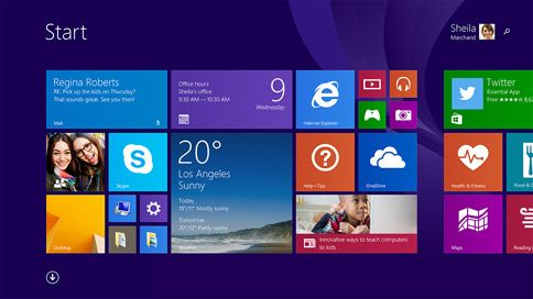 Search and Power buttons on the Start screen - what's new in windows 8.1