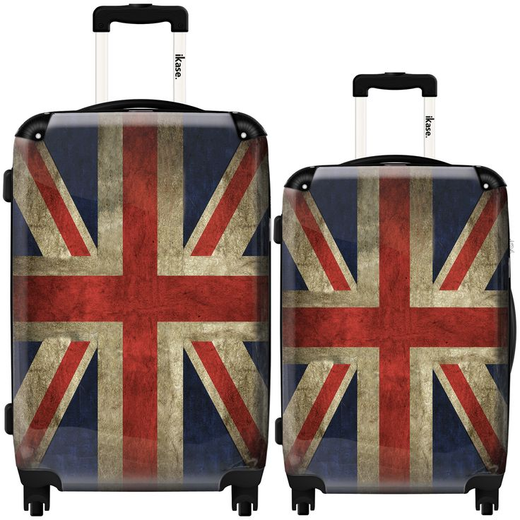 Suitcase Uk vintage flag