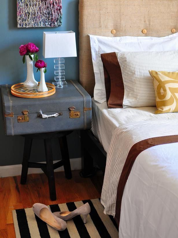 Accordion Case as a Bedside Table http://www.hgtv.com/bedrooms/chic-double-duty-nightstands/pictures/page-3.html?soc=pinterest