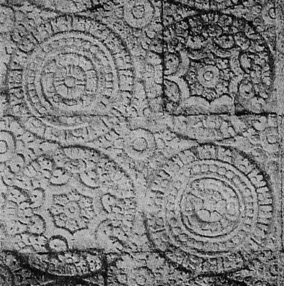 Nitik/Weaving Motif - Reliefs at Prambanan Temple, Solo, Central Java.