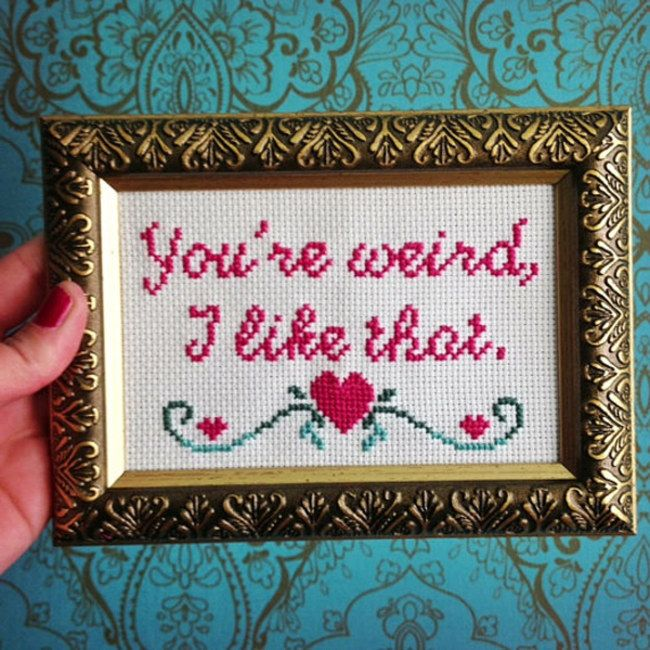 The cross stitch game has changed...                                                                                                                                                                                 More