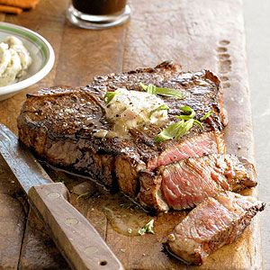 Stout-Soaked Porterhouse with Beer Butter One porterhouse usually serves 2 to 3 people. If serving more than that, add another porterhouse and use the same amount of marinade as you would for one steak.