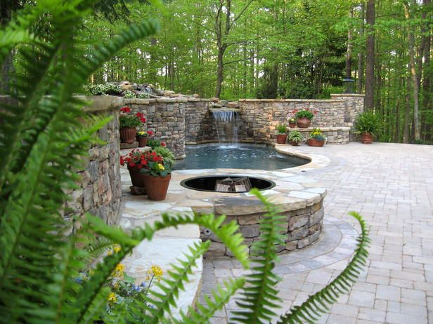 Top 25 ideas about outdoor patio fire pit on pinterest for Small backyard oasis
