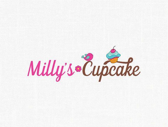 Premade Cupcake Logo Design Bird Logo Bakery Logo Design