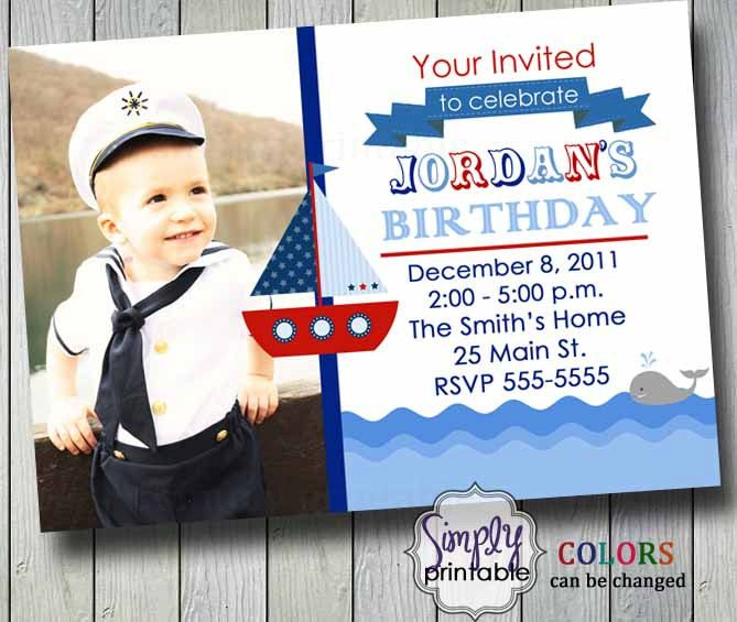 Sailor Birthday Invitation. $12.00, via Etsy.