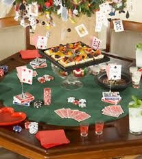 A simple Tablescape for your Poker Friends