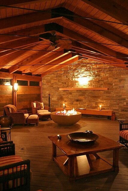 Indoor Fire Pit ♥ I Would Love To Be Sitting Right There With My Family On