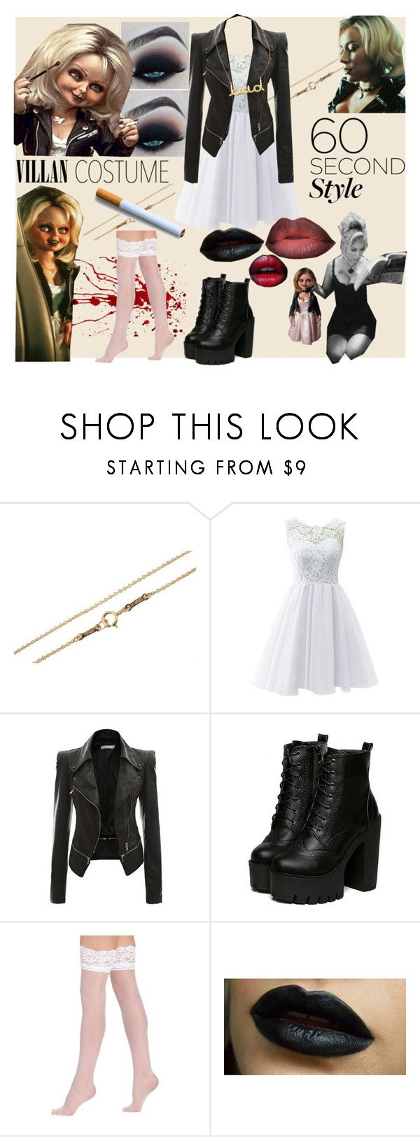 """Bride of Chucky"" by soamazinq on Polyvore featuring Tiffany & Co., Berkshire, Meredith Hahn, Halloween, 60secondstyle and villaincostume"