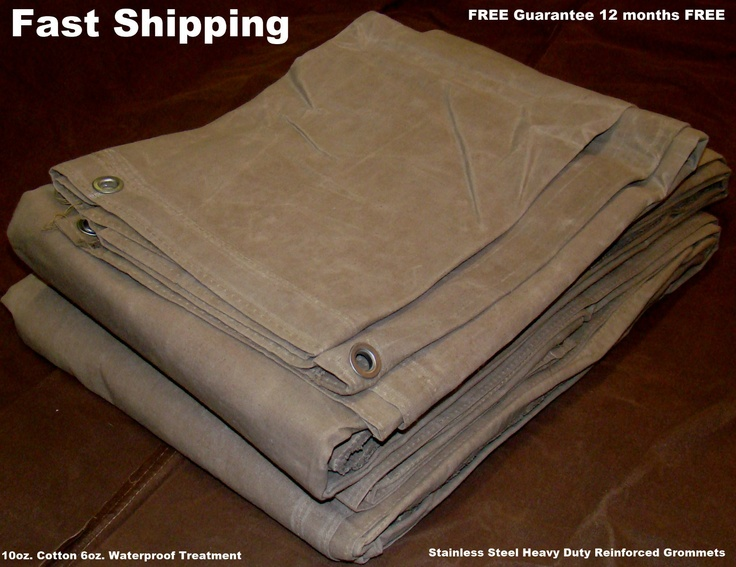 New 8 X 10 16oz Canvas Tarp Waterproof Stainlees Steel