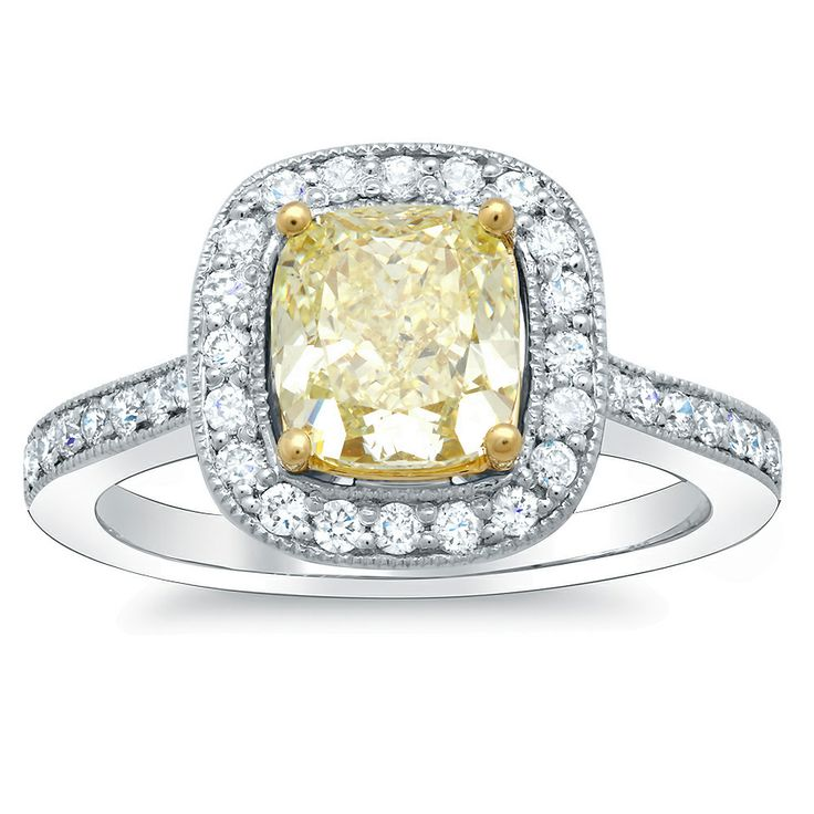 68 best yellow diamond engagement rings images on. Black Bedroom Furniture Sets. Home Design Ideas