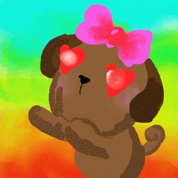 Hola!! Si te gusta este pin Busca mas de mis dibujos con el hashtag #Pug5AbiDrawing para encontrar mas.  Espero que te encante mi perrita enamorada!! #rainbow #dogdrawing