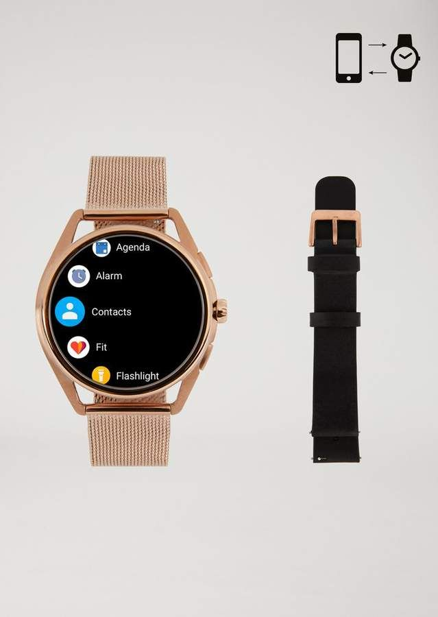 Emporio Armani Stainless Steel Touchscreen Smartwatch Smart Watch Wearable Technology Emporio Armani