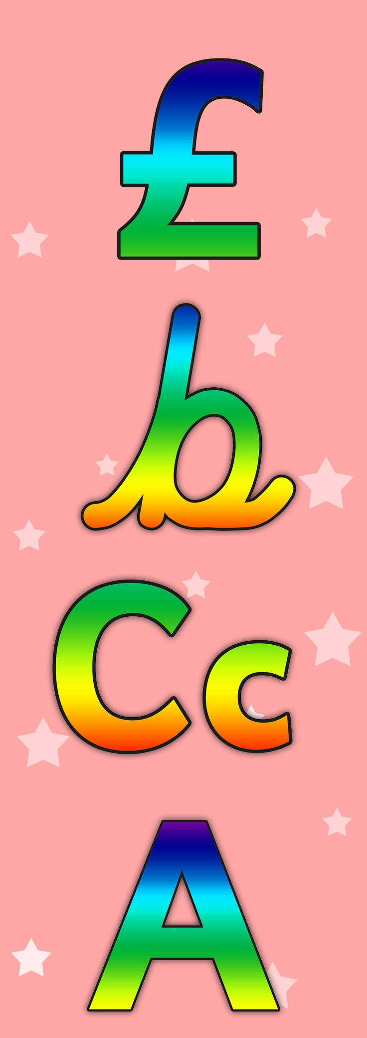 Twinkl Resources >> Rainbow Alphabet Display Lettering >> Printable resources for EYFS, KS1 and SEN classroom displays and teaching aids! Display, Classroom, Lettering, Rainbow