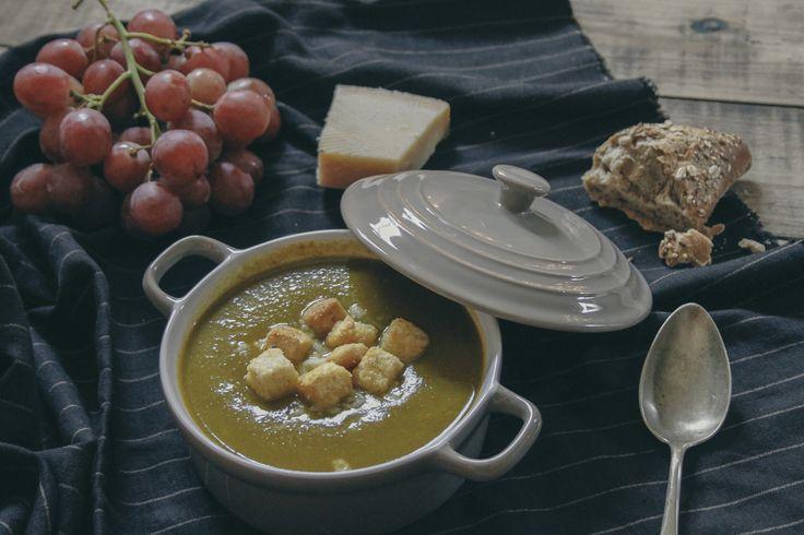 Tapas na Língua: Creme de Espinafres com Parmesão :: Spinach Soup with Parmesan