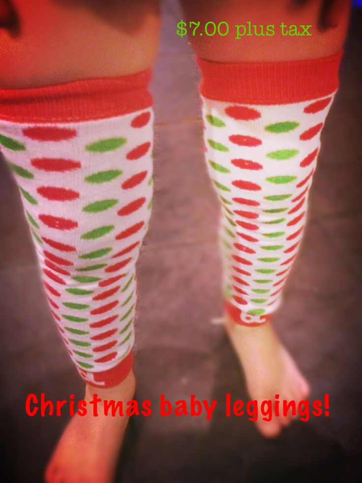 These were are xmas baby leggings but red an green can be worn all year! I have 2 instock with me now going for $7 each text 4038661890