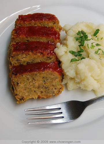 Meatless meatloaf....but have to substitute some ingredients to make it alkaline.