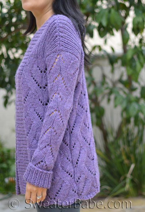 A feel-happy cardigan! Lots of cozy details and very wearable style.