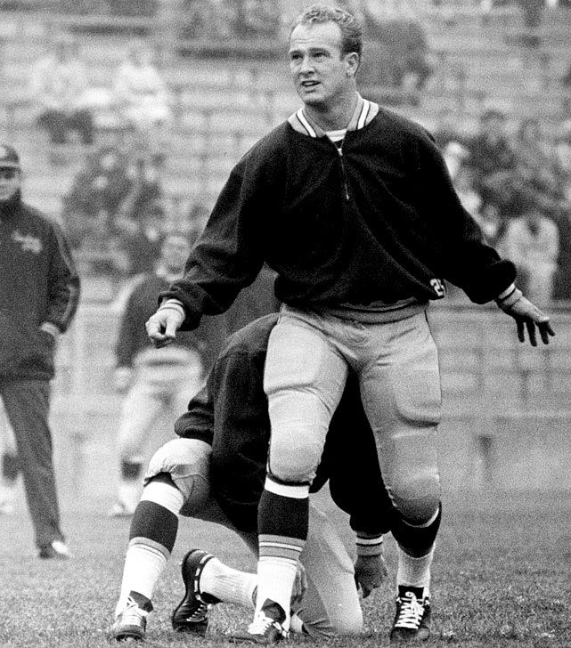 Former Heisman Trophy winner Paul Hornung played running back, quarterback and place-kicker for the Packers from 1957 to 1966.