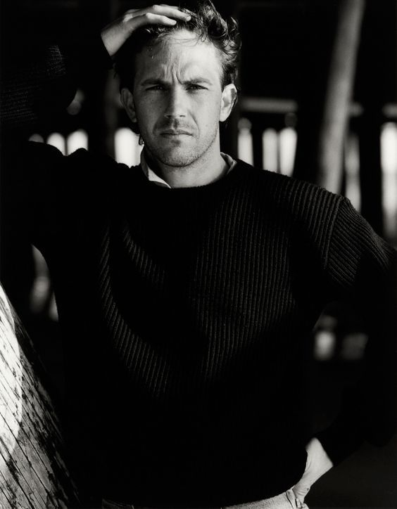 Kevin Costner photographed by Greg Gorman, c. 1989.