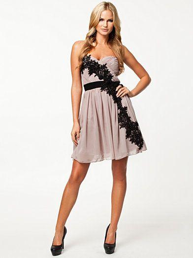 Little Mistress Flower Pleated Strap Dress