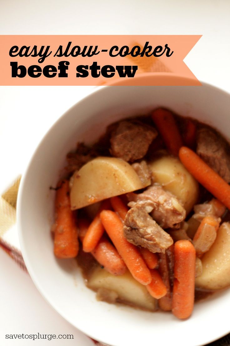 It was my first time attempting a slow cooker beef stew recipe and I was pleasantly surprised with how easy it was! The meat and veggies were so tender!