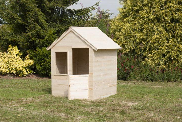 Une très jolie petite cabane de jardin en bois pour enfant. Les cabanes sont très utiles pour favoriser la créativité et l'imagination des enfants. Dimensions : H137 x L99 x P92