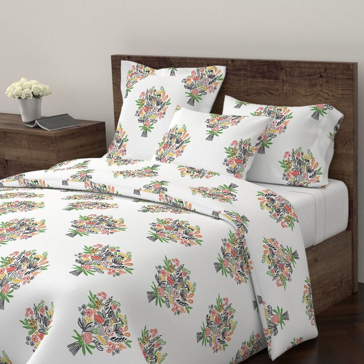Wyandotte Duvet Cover featuring BOUQUET BOUNTY FLORAL by kirstenkatz | Roostery Home Decor